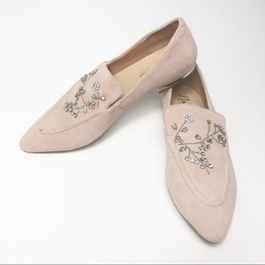 Nannette Lenore Loafers Suede Pink Blush 8